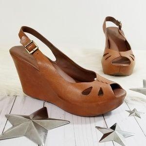 Kork-ease Felicia Avana wedge sandals brown sling